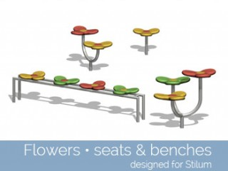 Flowers  – seats & benches
