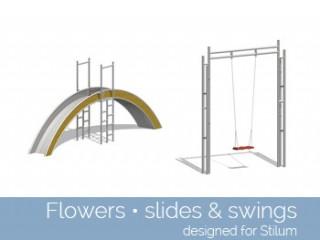 Flowers – slides & swing