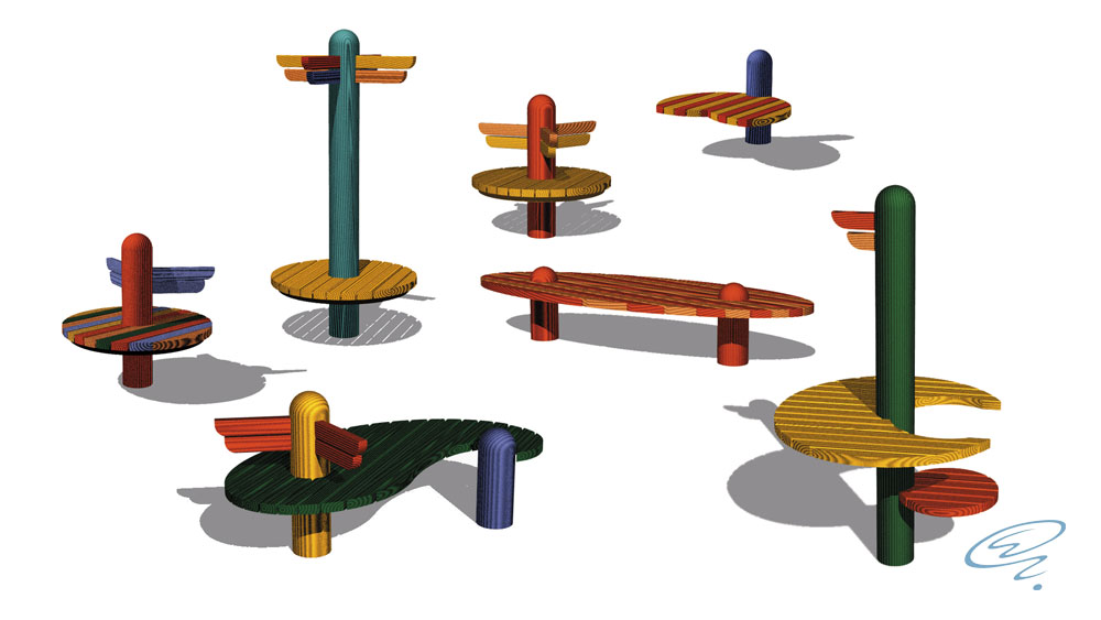 Wing Seats_Wooden Benches_Markus Ehring_02